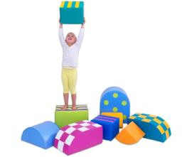 # Kleurrijke softplay set 9-delig