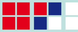 Kwadraatraamblokjes 100 x blauw