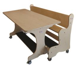 Ergonomisch tafel & zitsysteem recht berken / berken hpl