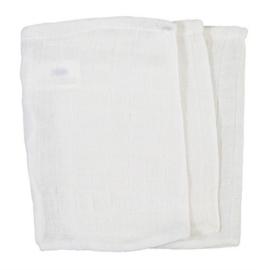 Hydrofiel washandje wit (30 stuks)