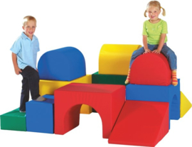 Softplay bouwstenen Labyrint 14-delig
