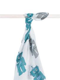 Hydrofiel handdoek / laken XL Robot teal