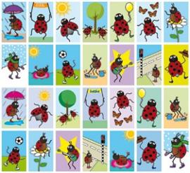 Beloningsstickers Lieveheersbeestjes
