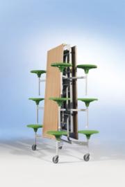Spaceflex 12-zits, HPL-tafelblad, zithoogte 46 cm