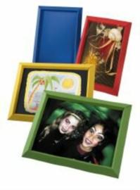 Gekleurde fotokaders in karton, set van 25 ass.
