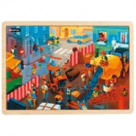 Puzzel De straat, set van 4 puzzels, 24- of 35-delig