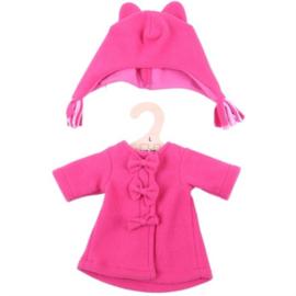 Roze jas met muts 35 cm