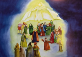 # De uitstorting van de Heilige Geest, vertelplaten, 11 stuks