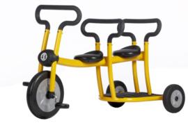 Pilot yellow tricycle 2 seats driewieler