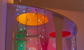 Gekleurde plexiglasschijven