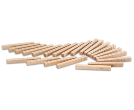 MAB Rekenblokken hout eenkleurig, tientallen