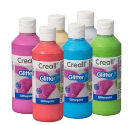 Creall Glitter 250 ml. 6 stuks ass.