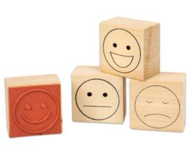 Emotie stempels, set van 4