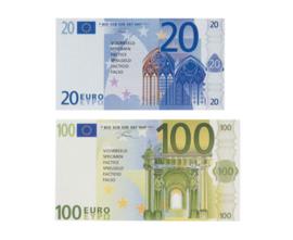 Euro rekengeld briefjes, 65 stuks
