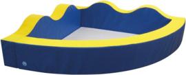 Ballenbak kwartcirkel golven blauw / geel