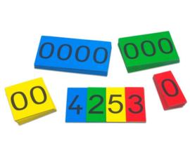 MAB magnetische nummerkaarten 1-9000