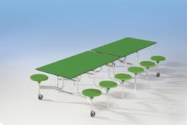Spaceflex 12 zits, tafelblad Volkern Powersurf, zithoogte 41 cm