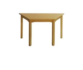 Beuken  tafel trapezium, 120 x 60/60