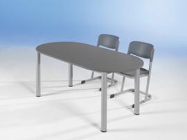 Ovale tafel, in hoogte verstelbaar van 58-72 cm