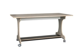 Verrijdbare tafel berken/decor hpl