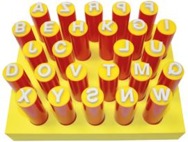 Stempelsticks, hoofdletters 26 st. ass