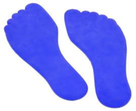 Vloermarkeringen voeten blauw, 10 stuks