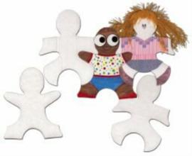Puzzelstukken van kinderfiguren,  set van 24