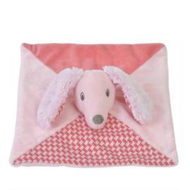 Knuffeldoekje Happy Horse roze hondje