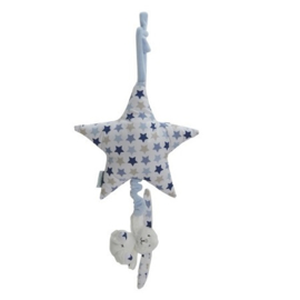 Muziekknuffel ster Little Dutch Mixed Stars blauw