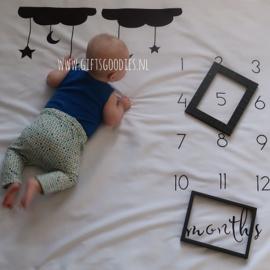 Baby mijlpaal fotodeken - Ster en maan