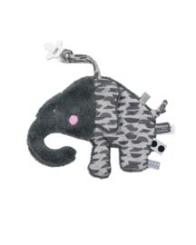 Knuffeldoekje Snoozebaby olifantje donker grijs
