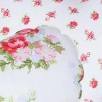 Verschoningsmatje Little Dutch wit met rozen