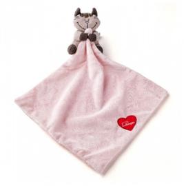 Knuffeldoekje Lumpin roze poes