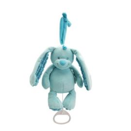 Muziekknuffel Tiamo Basic Bunny blauw