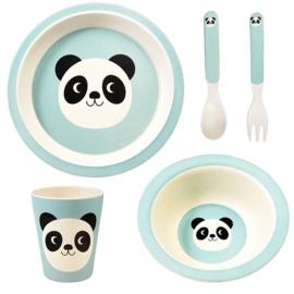 Kinderservies bamboe Rex London - Miko the Panda