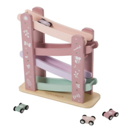 Houten speelgoed Little Dutch - Autobaan Adventure roze