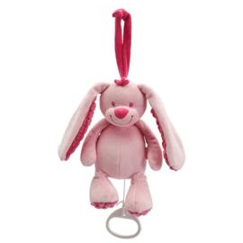 Muziekknuffel Tiamo Basic Bunny roze