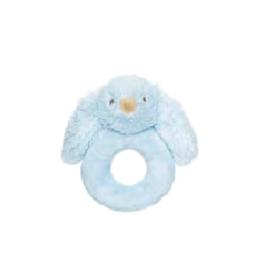 Ronde knuffelrammelaar Teddykompaniet Lolli blauw