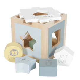 Houten speelgoed Little Dutch - Vormenstoof Adventure mint en blauw