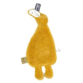 Knuffeldoekje Snoozebaby konijntje oker geel
