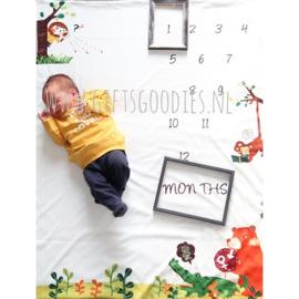 Baby mijlpaal fotodeken - Wilde dieren