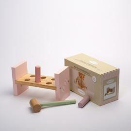 Houten speelgoed Little Dutch - Hamerbank Adventure roze