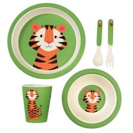 Kinderservies bamboe Rex London - Teddy the Tiger