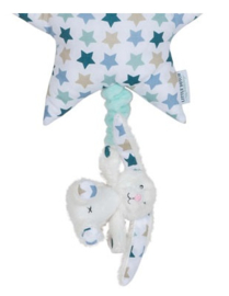 Muziekknuffel ster Little Dutch Mixed Stars mint