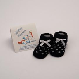 Babysokjes La Petite Couronne zwart