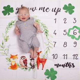 Baby mijlpaal fotodeken - Bosdieren
