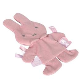 Knisper knuffeldoekje Nijntje Pink Rib