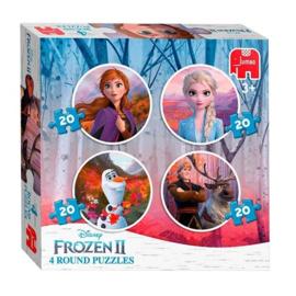 Peuter speelgoed ronde puzzel 4 in 1 - Disney Frozen 2