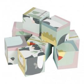 Baby speelgoed houten blokken puzzel Little Dutch - Zoo
