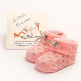 Babysokjes La Petite Couronne roze